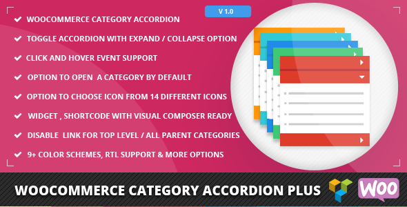 Woocommerce Category Accordion Plus